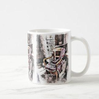VICTORIAN FIRESIDE CHAIR CLASSIC WHITE COFFEE MUG