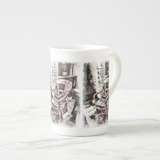 VICTORIAN FIRESIDE CHAIR TEA CUP