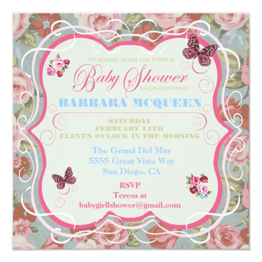 Victorian floral baby shower invitations zazzle victorian floral baby shower invitations filmwisefo