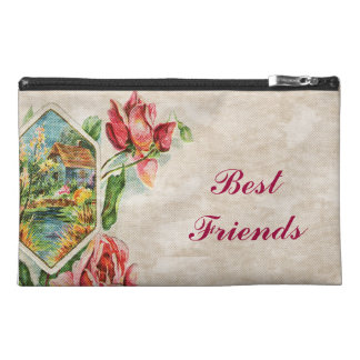 Victorian Floral Best Friends Travel Accessories Bag