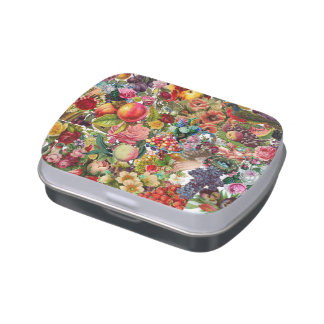 Victorian Floral Collage Candy Tin