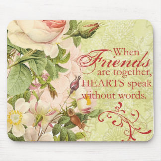 Victorian Floral Friendship Mouse Pad