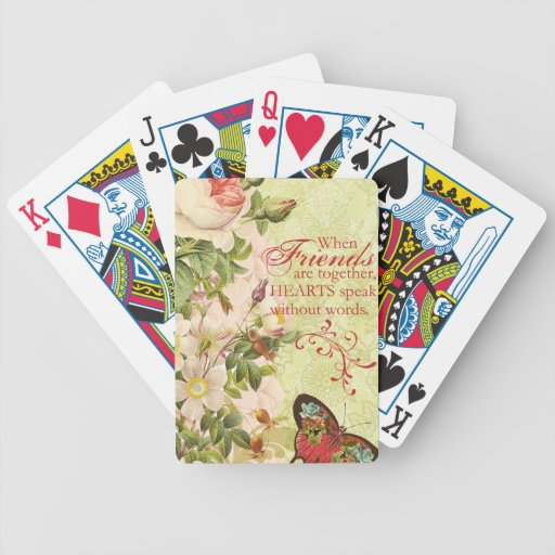 Victorian Floral Friendship Playing Cards