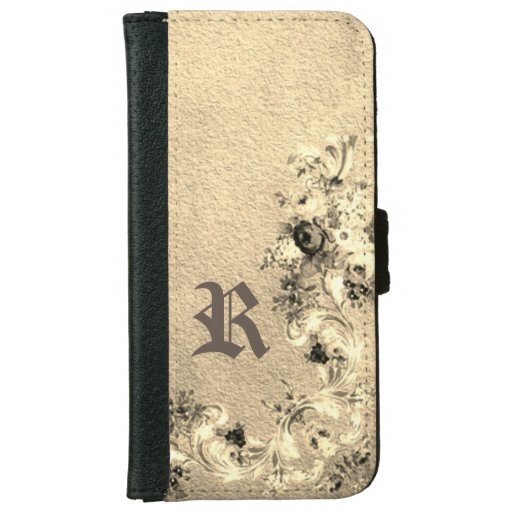 Victorian floral iPhone 6/6s wallet case
