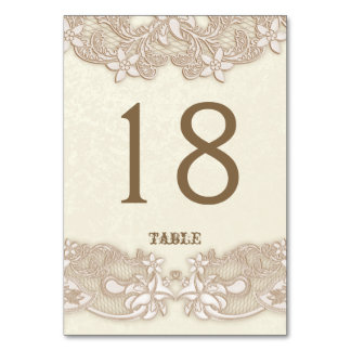 Victorian Floral Lace Design Table Card