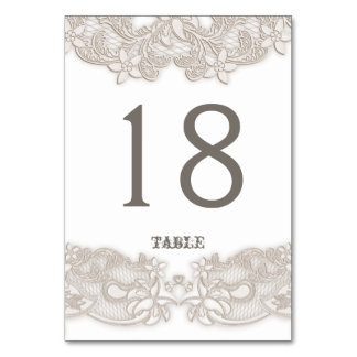Victorian Floral Lace Design White Table Card