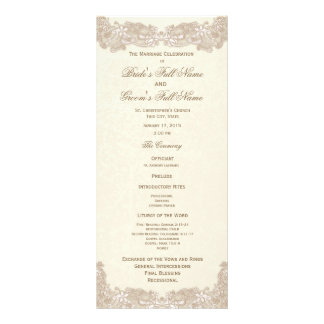 Victorian Floral Lace Wedding Program Personalized Rack Card