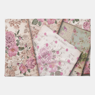 Victorian floral papers towels