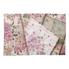 Victorian floral papers. towels