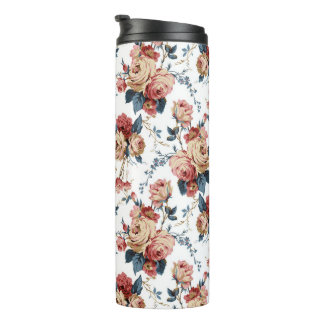 Victorian floral pattern thermo tumbler