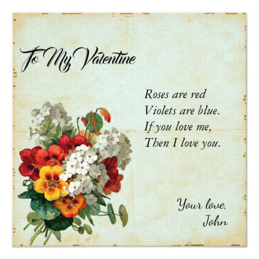 Victorian Floral Valentine's Day Scrapbook Journal Card