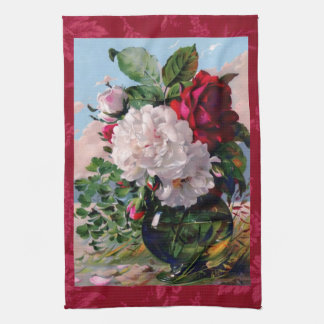 Victorian Floral Vase Study Hand Towel