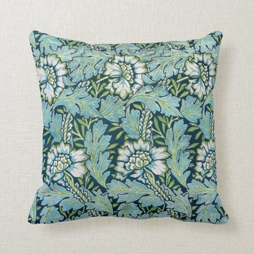 Victorian Floral Pillows : Victorian Floral Wallpaper Pattern Pillows Zazzle