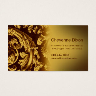 Victorian Flourish custom designer business card