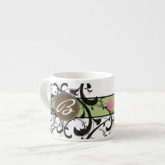 Victorian Flourish Monogrammed 6 Oz Ceramic Espresso Cup