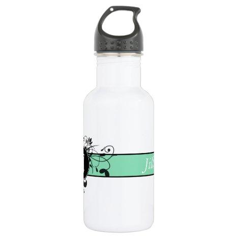 Victorian Flourish Monogrammed Stainless Steel Water Bottle