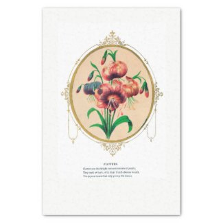 Victorian Flower Emblem Tissue Paper