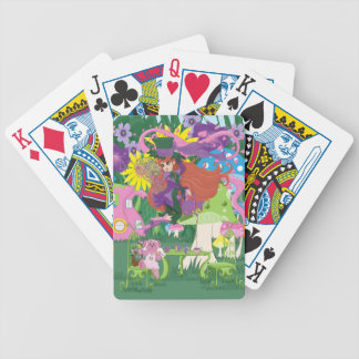 Victorian Flower Fairy and Angel Bear Tea Party Bicycle Playing Cards