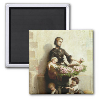 Victorian Flower Seller Magnet
