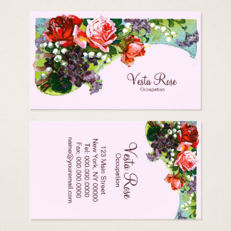 Victorian Flowers - Business Cards