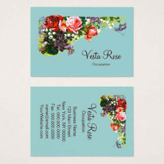 Victorian Flowers - CHANGE BACKGROUND COLOR / Business Card