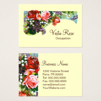 Victorian Flowers - CHANGE COLOR Business Card