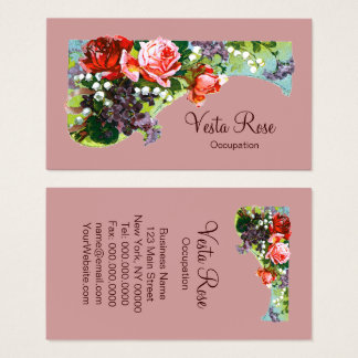 Victorian Flowers - CHANGE COLOR Business Cards