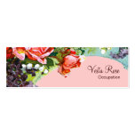 Victorian Flowers ~ CHANGE COLOR Business Cards