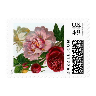 Victorian Flowers Postage