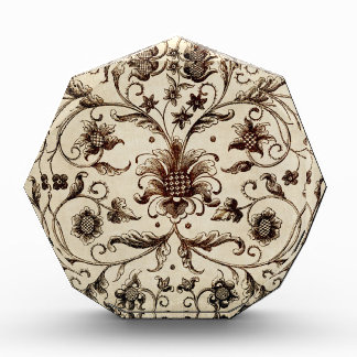 victorian flowers texture acrylic award