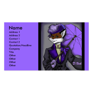Victorian Fox Profile Card Double-Sided Standard Business Cards (Pack Of 100)