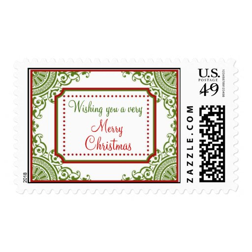 Victorian Frame Christmas Postage Stamps