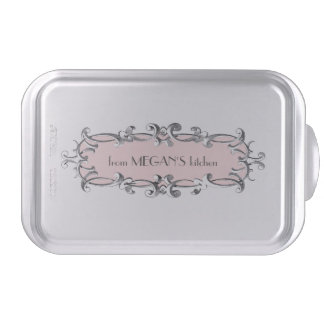 Victorian Frame Pink Personalized Cake Pan