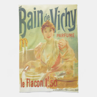 Victorian French bathtub advertisement woman Hand Towel