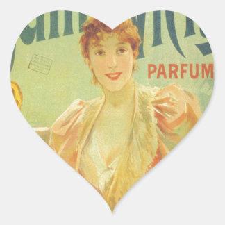 Victorian French bathtub advertisement woman Heart Sticker