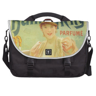 Victorian French bathtub advertisement woman Laptop Commuter Bag
