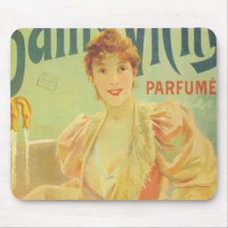 Victorian French bathtub advertisement woman Mouse Pad
