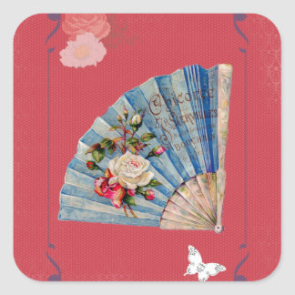 Victorian French Chocolate Card Square Sticker