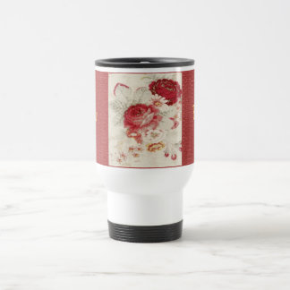 Victorian French Country Roses Travel Mug SS