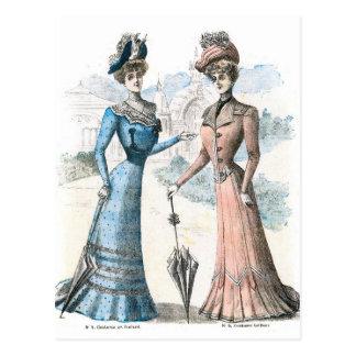 Victorian French Fashion Postcard
