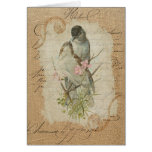 Victorian French Love Birds Love Song Card