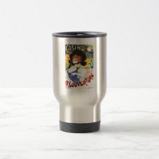 Victorian French woman cabaret advertisement Paris 15 Oz Stainless Steel Travel Mug