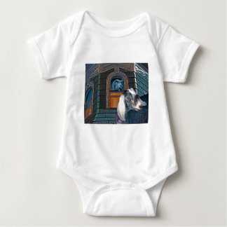 Victorian Friends Cute Goat and Squirrel Fantasy Baby Bodysuit
