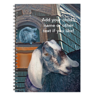 Victorian Friends Cute Goat and Squirrel Fantasy Notebook