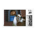 Victorian Friends Cute Goat and Squirrel Fantasy Postage Stamps