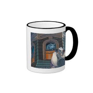 Victorian Friends Cute Goat and Squirrel Fantasy Ringer Mug