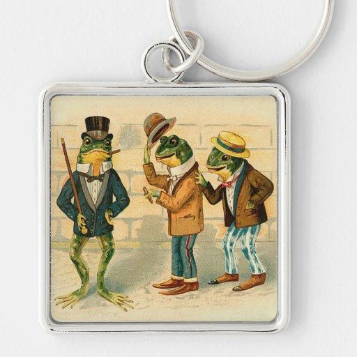 Victorian Frogs Keychain