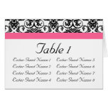 Victorian Fuchsia Pink and White Damask Cards