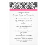 Victorian Fuchsia Pink and White Damask Flyer