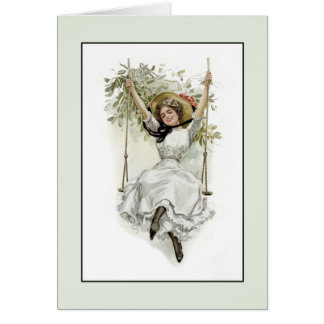 Victorian Fun Friends or Family Birthday Greeting Card